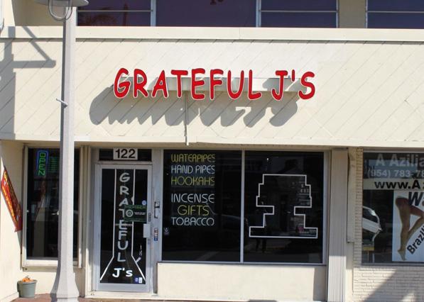 Grateful J's Pompano Beach Store Front